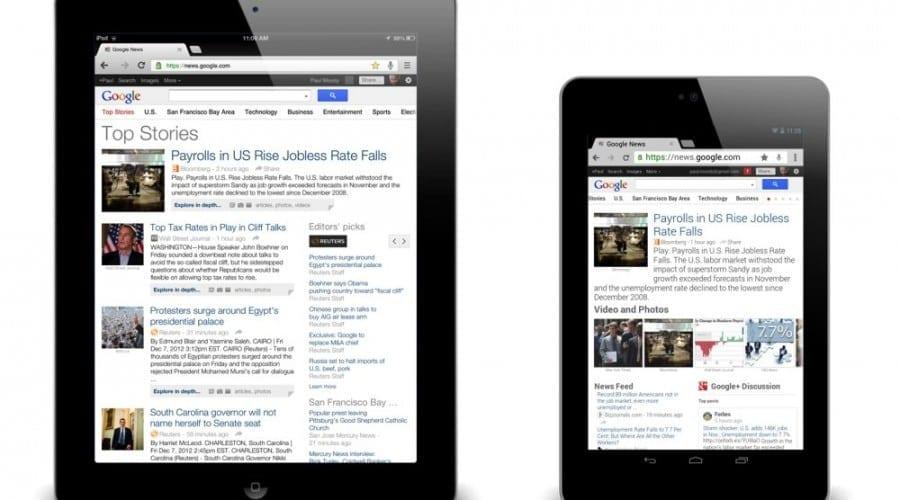 Google News vine cu nou look pentru tablete
