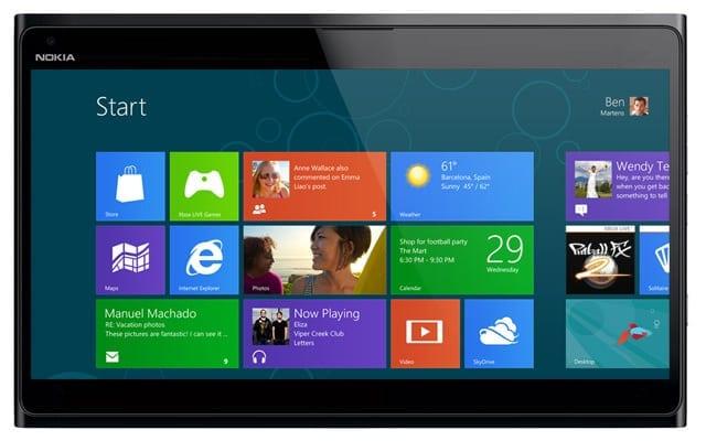 tableta nokia, nokia windows 8