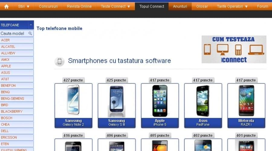 Top connect: Intră în joc iPhone 5, Padfone şi HTC One X