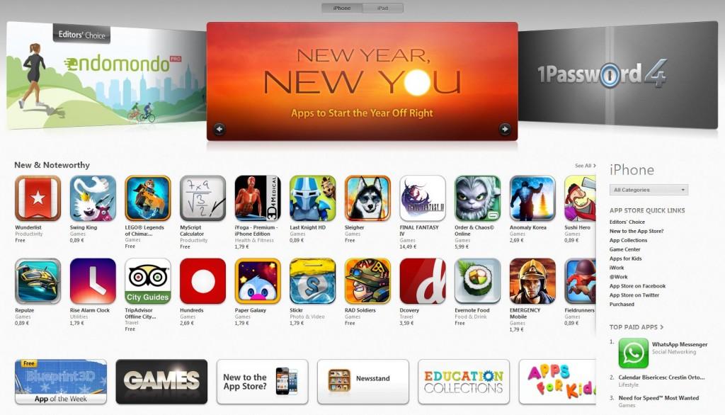 app store, 40 de miliarde de aplicatii itunes