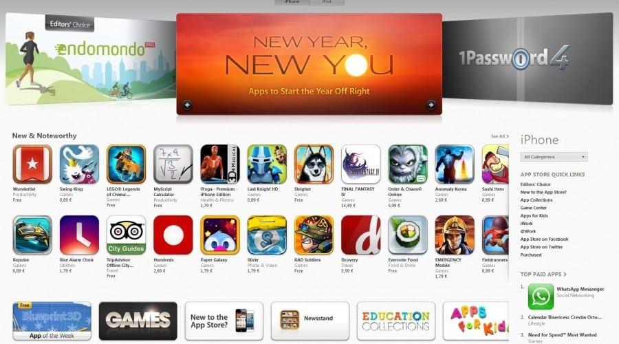 App Store depaseste 40 de miliarde de descarcari