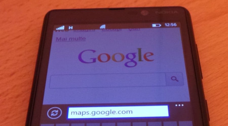Utilizatorii Windows Phone nu mai pot accesa Google Maps in browser, dar Google va remedia problema