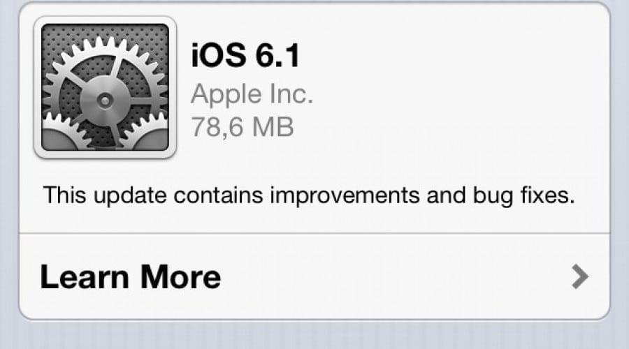 iOS 6.1: Update-ul extinde suportul LTE și repară mici bug-uri