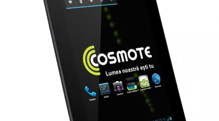 Cosmote My mini Tab: Ecran de 7 inchi, procesor dual-core şi Android Ice Cream Sandwich