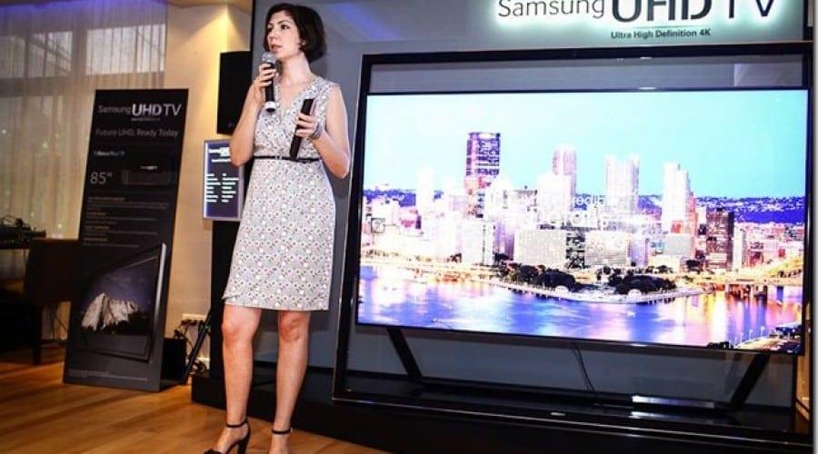 VIDEO Samsung a lansat televizoarele Ultra HD in Romania. Preturile incep de la 5.000 de euro si ajung pana la 35.000 de euro