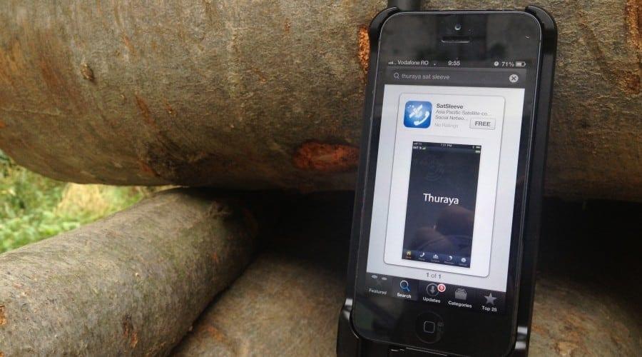 Thuraya SatSleeve pentru convorbiri de pe iPhone prin satelit