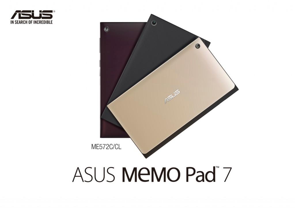 ASUS MeMO Pad 7 color options