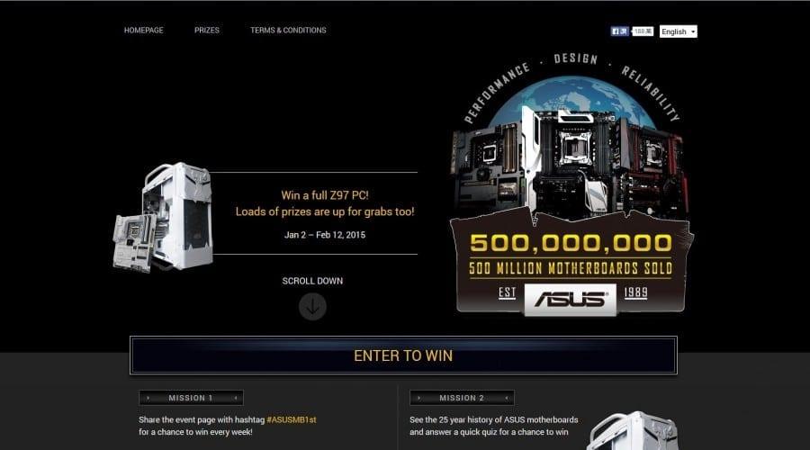 ASUS lansează o competiție globală pentru a sărbători 500 de milioane de plăci de bază vândute