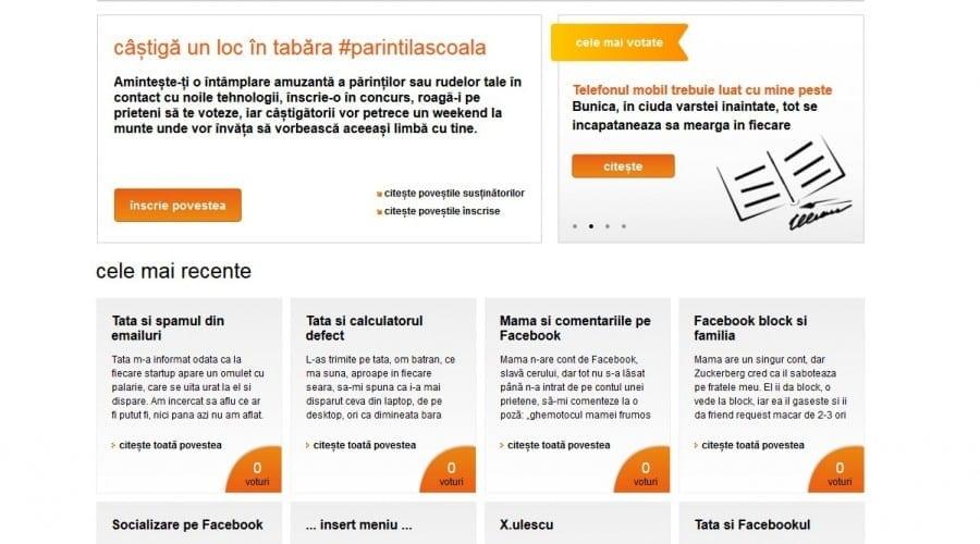 Orange îi trimite pe #parintilascoala pentru a fi în pas cu noile tehnologii