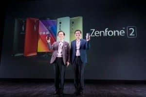ASUS Chairman Jonney Shih and ASUS CEO Jerry Shen launch ZenFone 2 in Paris