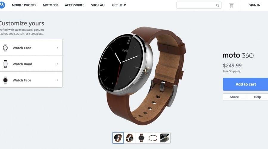 Motorola Moto 360 poate fi personalizat de cumpărător