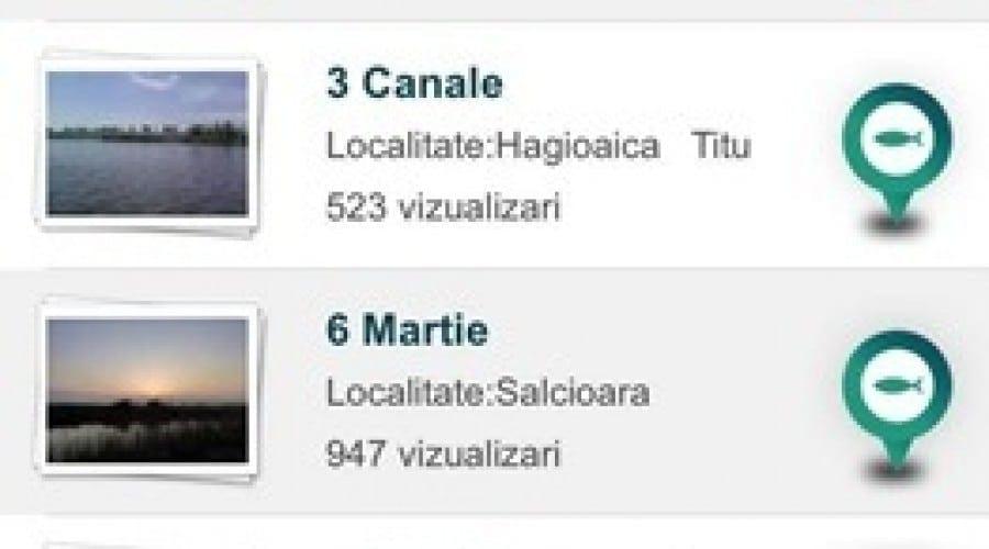 Fără povești pescărești: Hartapescar.ro lansează o aplicație pentru mobil ce oferă date despre peste 2.500 de locuri de pescuit