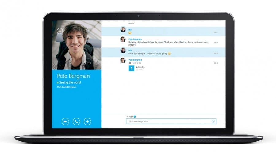 Skype pe web este disponibil la nivel global