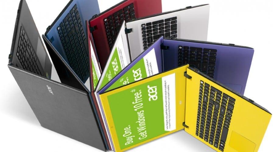 Sistemele Acer pregătite pentru Windows 10