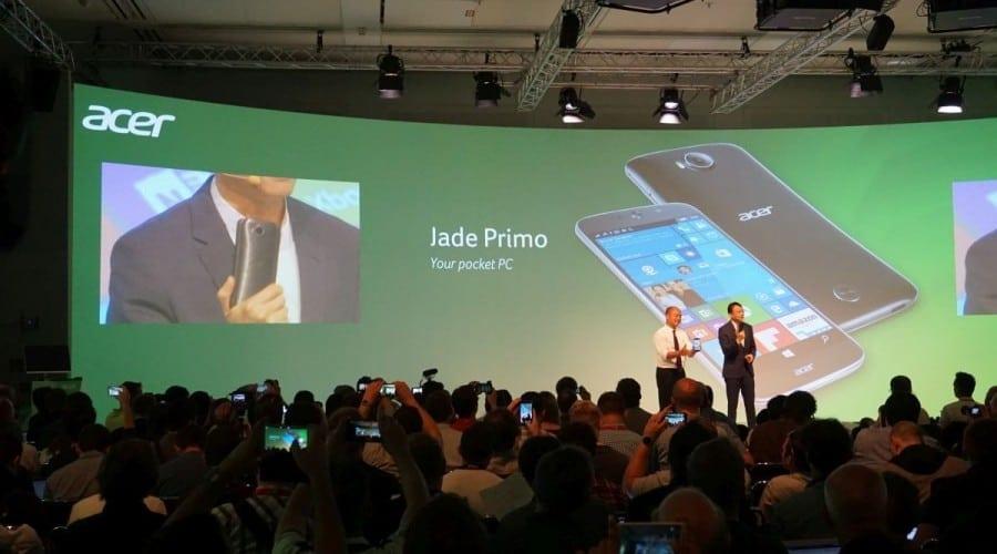 IFA 2015: Acer a anunțat Jade Primo, primul telefon cu Windows 10 care se transformă în PC