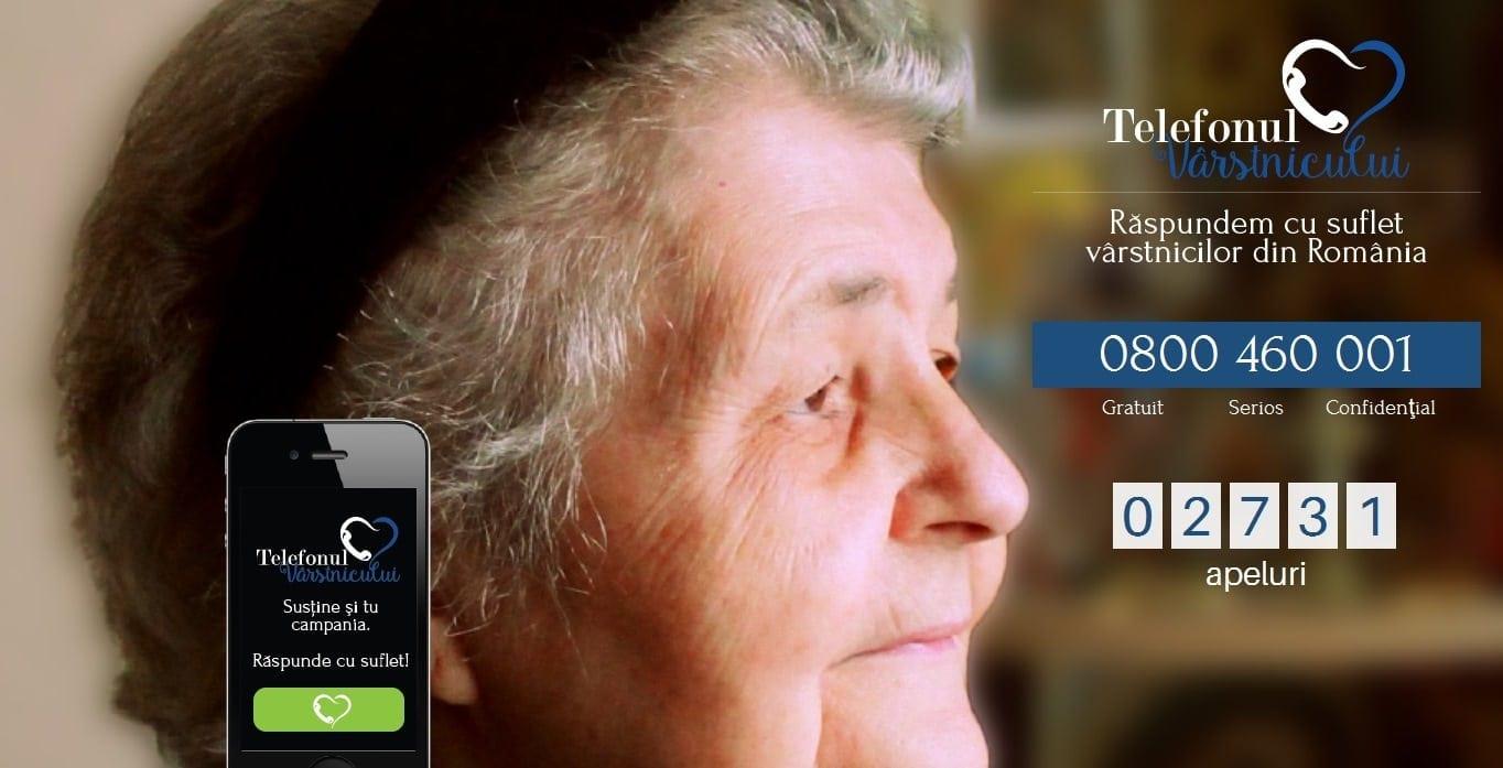 La şase luni de la lansare, Telefonul Vârstnicului a fost apelat de 2.700 de ori