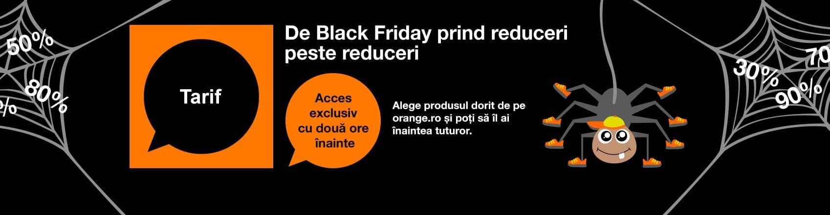 Orange demarează campania Black Friday 2016