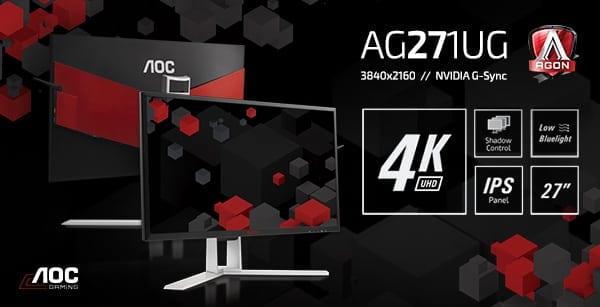 AOC lansează primul monitor 4K din gama AGON