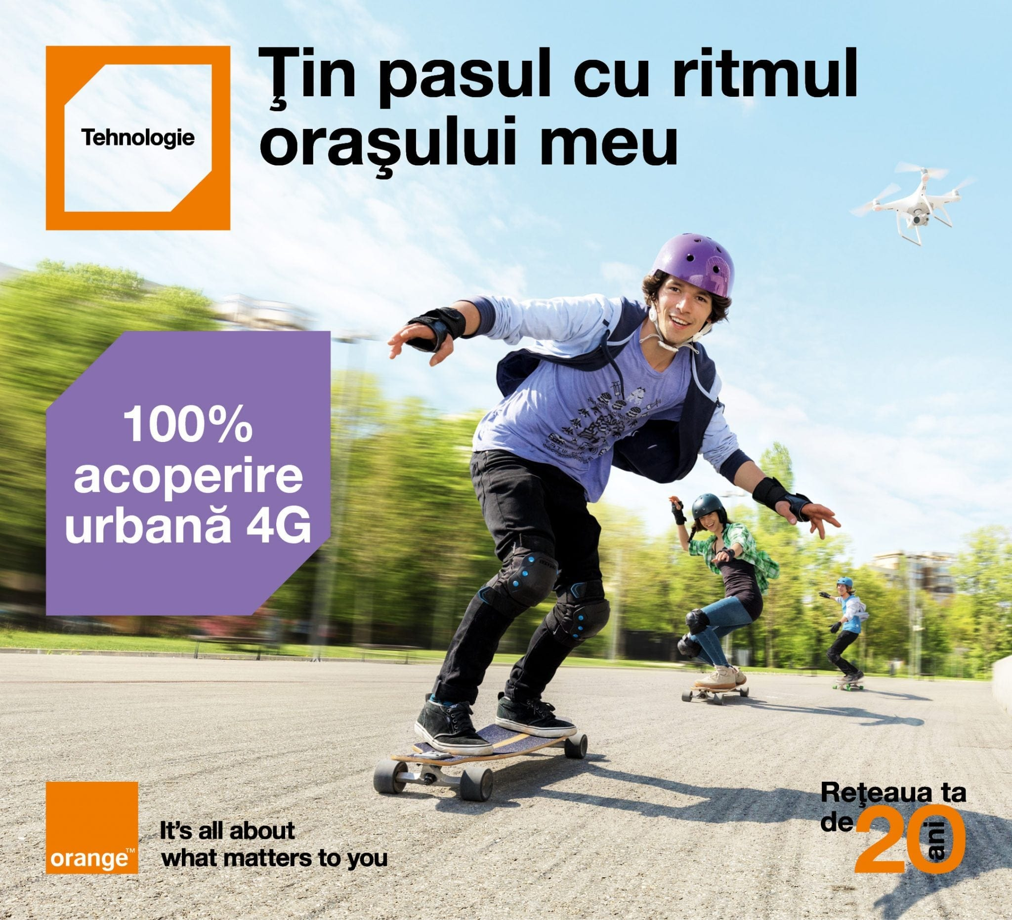 Orange oferă acoperire 4G 100% la nivel urban