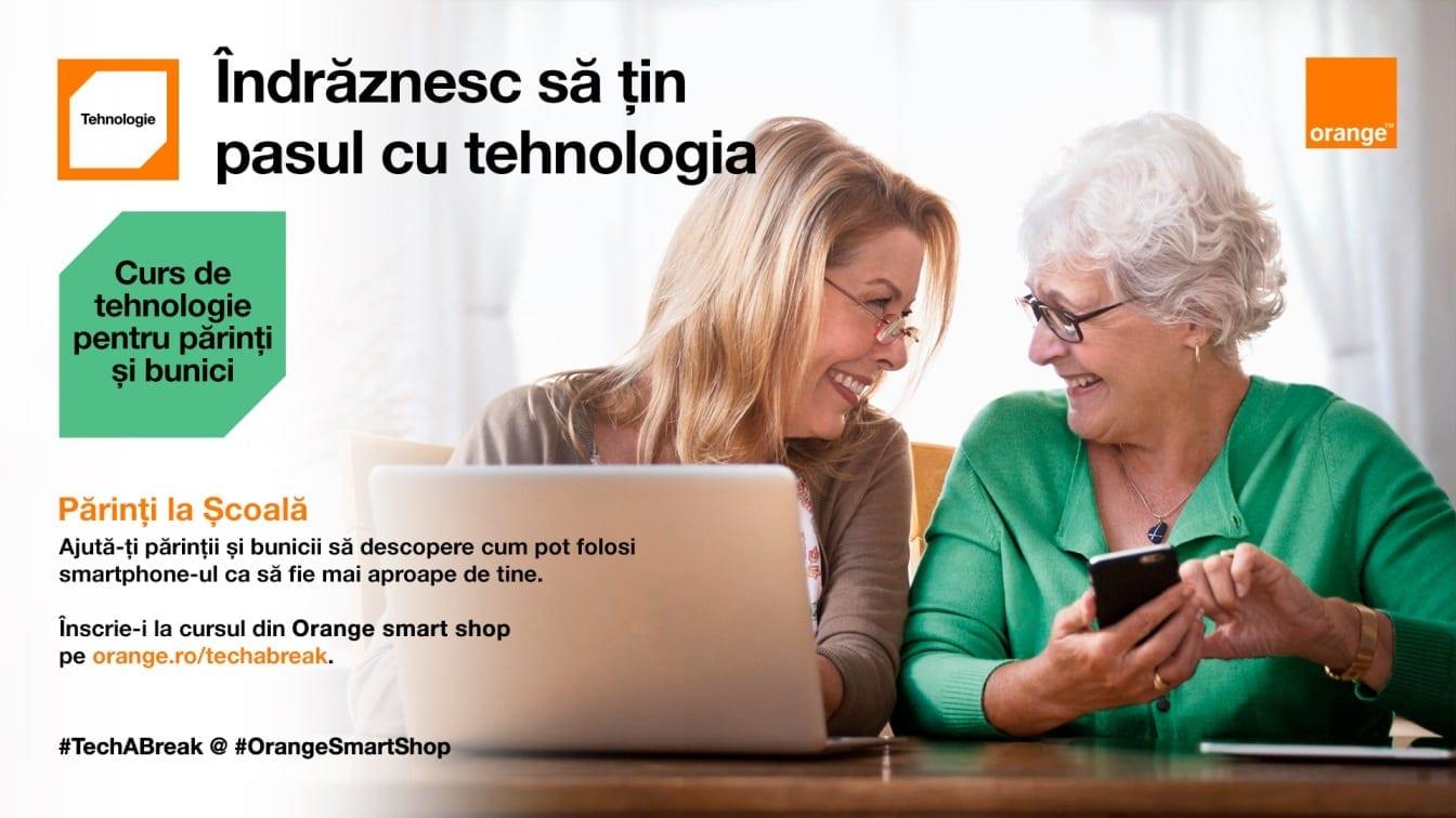 Orange inițiază campania Părinți la Școală, prin care oferă cursuri gratuite de tehnologie pentru părinți și bunici în magazinele proprii