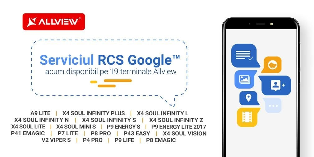 Allview introduce serviciul de mesagerie RCS Google pe 19 telefoane