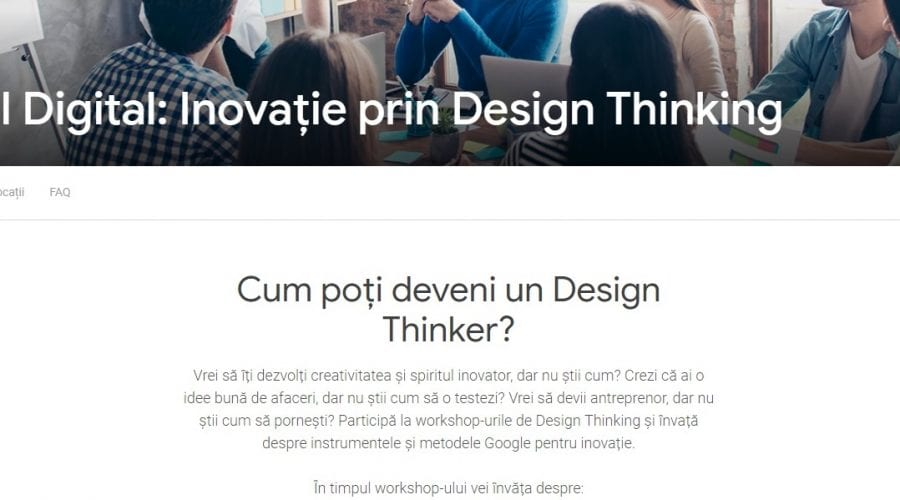 Google lansează cursuri gratuite de Design Thinking