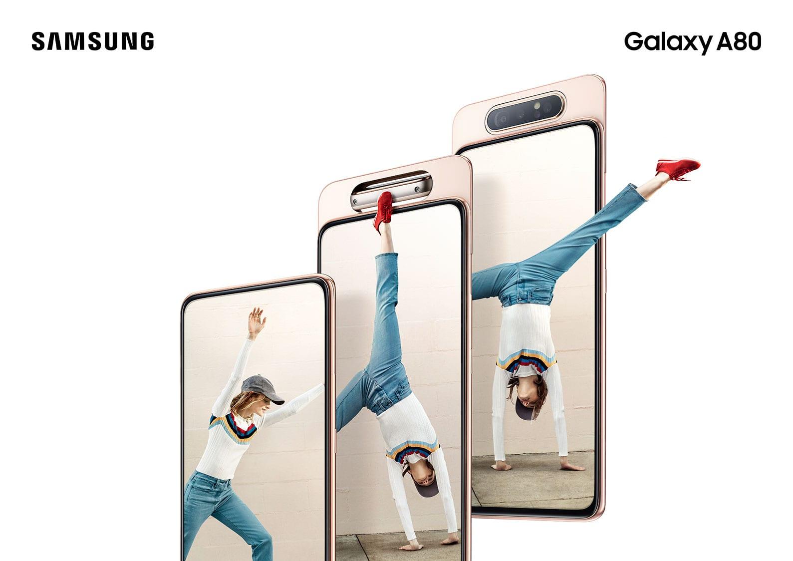 Samsung Galaxy A80 disponibil pe piață