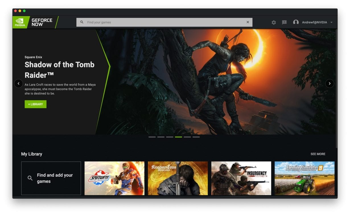 Platforma de gaming GeForce Now are o nouă interfață
