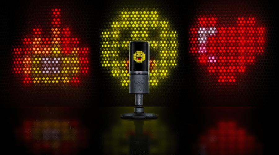 Razer lansează Seiren Emote, primul microfon din lume cu display digital încorporat, vezi video
