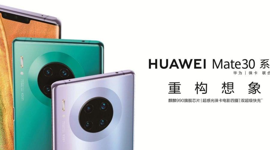 Huawei Mate 30 și Mate 30 Pro au fost lansate, vin cu 5G și sistem de patru camere
