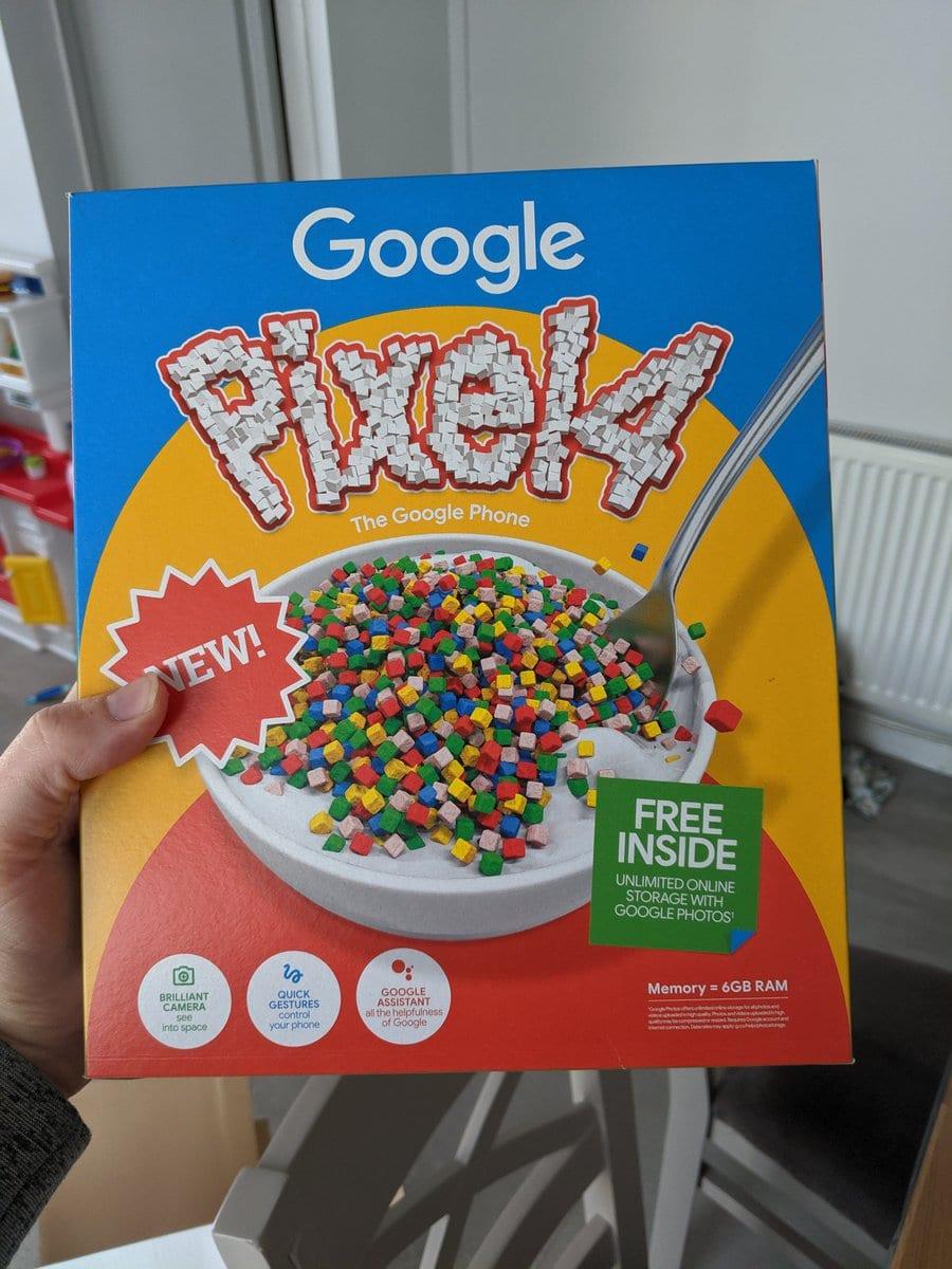 Pixel 4 într-o cutie de cereale ori în una de pizza? O surpriză marca Google
