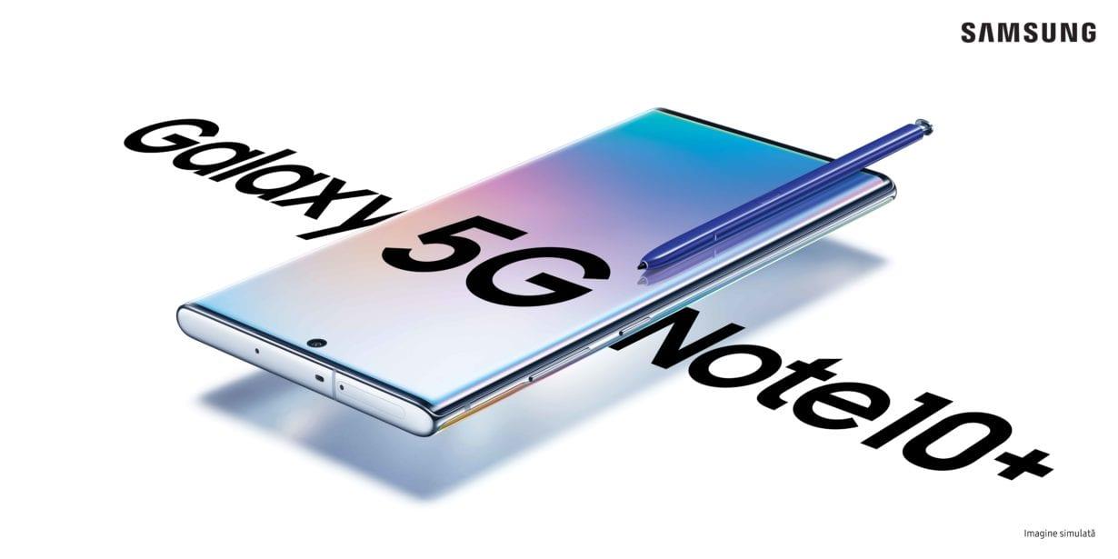 Samsung Galaxy Note10+ în versiune 5G, disponibil de azi și la Vodafone și Orange
