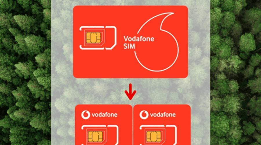 Cartele SIM de la Vodafone vor avea dimensiunea înjumătățită pentru a reduce deșeurile plastice