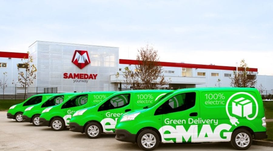 eMAG lansează livrarea cu automobile 100% electrice, serviciul Green Delivery va fi disponibil în București și Ilfov