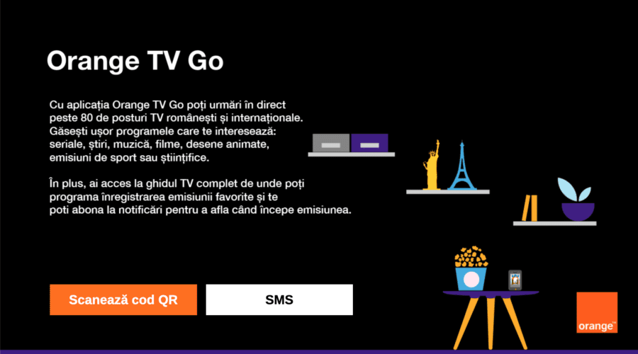 Aplicația Orange TV Go ajunge și pe Smart TV