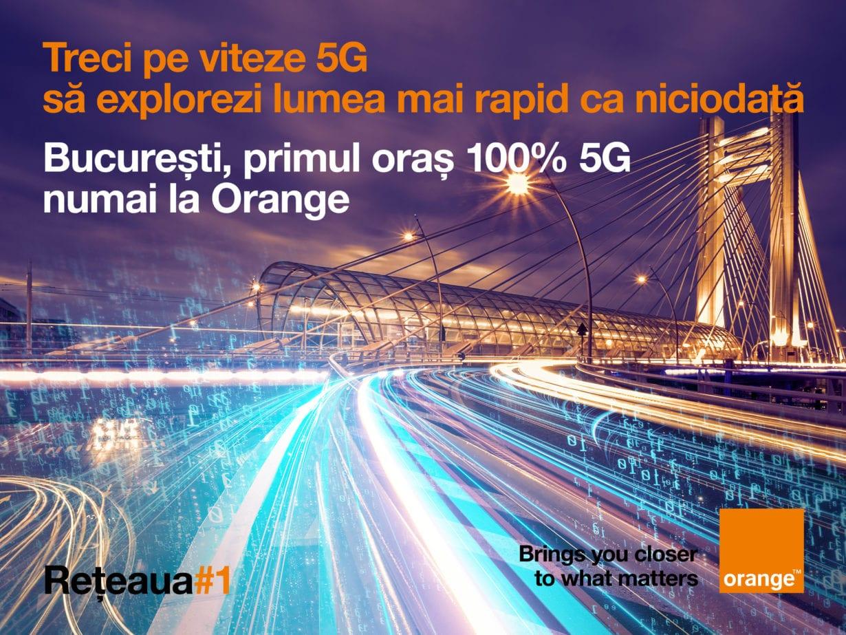 Orange acoperă 5G tot Bucureştiului