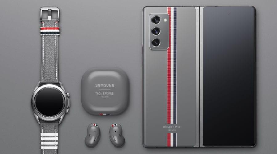 Galaxy Z Fold2, sub bagheta Thom Browne