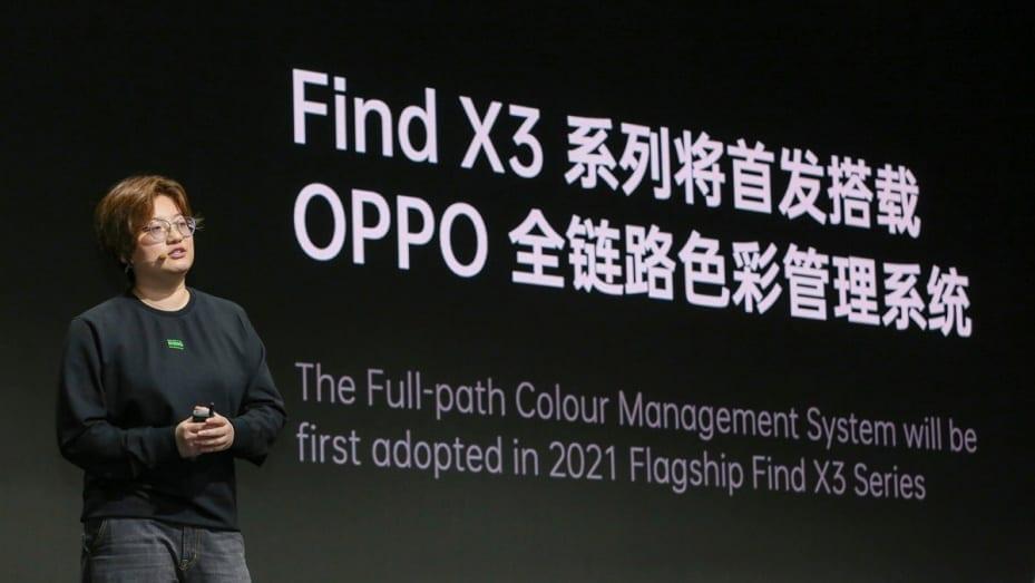 Oppo Find X3 va dispune de un spectru de un miliard de culori