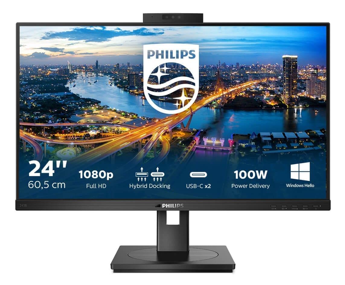 Noul monitor Philips va avea 24 inci și va dispune de cameră securizată și conexiune hibridă
