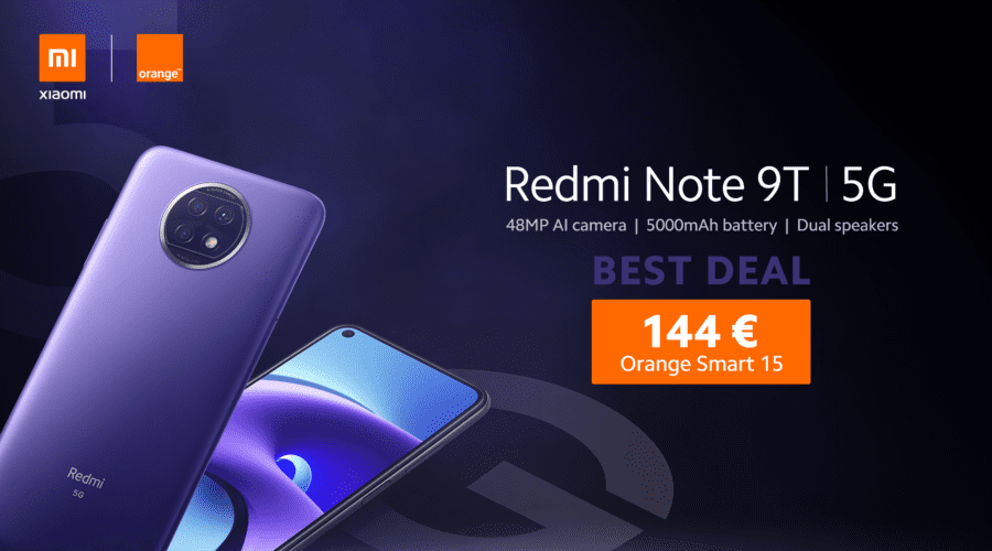 Redmi Note 9T 5G, disponibil la Best Deal Orange în România