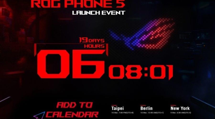 Asus ROG Phone 5 va fi lansat pe 10 martie