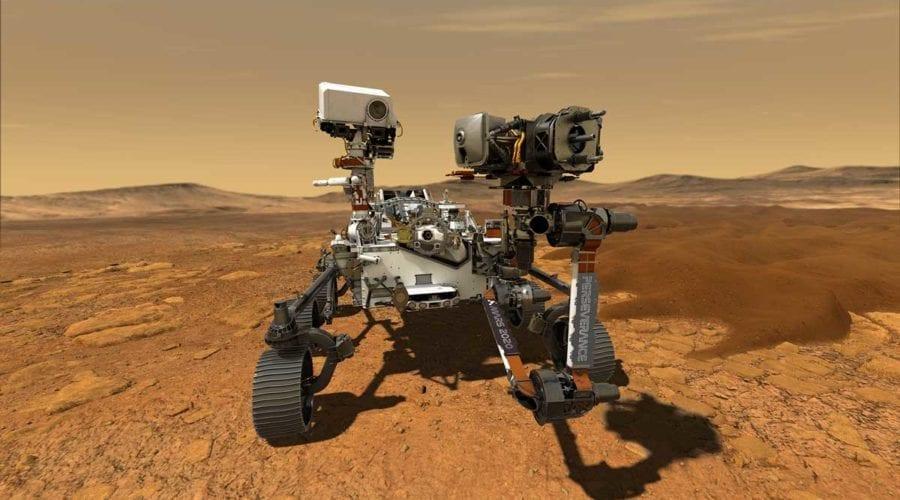 NASA a publicat un clip video cu întreaga procedură de aterizare a lui Perseverance pe Marte