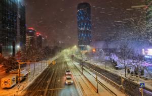 Iarna în București pe timp de noapte prin lentila lui Samsung Galaxy S21 Ultra 5G