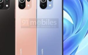 Randările Xiaomi Mi 11 Lite dezvăluie un design similar cu Mi 11