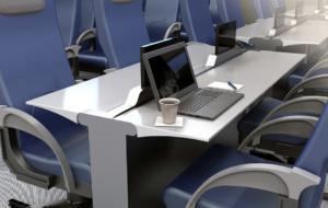 Așa arată un avion cu spațiu de birouri. Un concept de cabină de zbor nouă