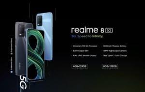 Realme 8 5G s-a lansat oficial: procesor Dimensity 700 și ecran de 90Hz