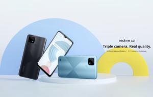 Realme anunță Realme C21, telefon sub 500 de RON și baterie de 5000mAh