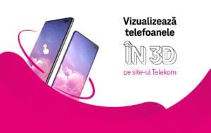 Telekom îți permite acum să vizualizezi 3D telefoanele de care ești interesat