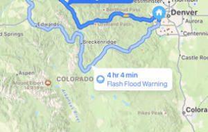 iOS 15: Apple Maps vor avertiza asupra condițiilor meteorologice