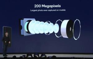 Samsung anunță un senzor pentru camera de telefon de 200 megapixeli
